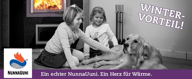 Nunnauuni Specksteinöfen Vega, Saga, Joya als Saisonmodelle Winter-Frühjahr 2017