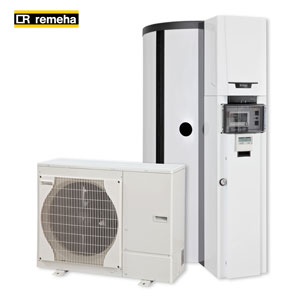 Lüning GmbH in Anröchte Kreis Soest Remeha Hybridlösung Gas-Brennwert-Wärmepumpen System