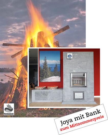 Mittsommer2020-Nunnauuniofen Joya mit Bank zum Vorzugspreis bei Lüning Heiztechnik in Anröchte, Lippstadt, Erwitte, Soest, Paderborn